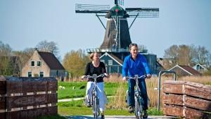 Frisia per canali con le e-bike