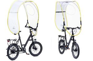 Ciclismo urbano, arriva Dryve, l'aquilone antipioggia