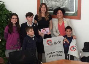 Campagna #30elode: i bambini di Fiab in delegazione al governo