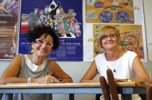Giulietta Pagliaccio e, a destra, Simona Arletti.