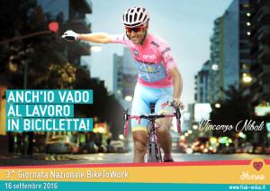 "Nibali ""firma"" la campagna Fiab BikeToWork 2016"