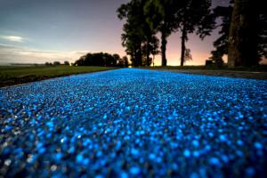 Ciclabile d'artista: in Polonia la pista è blu