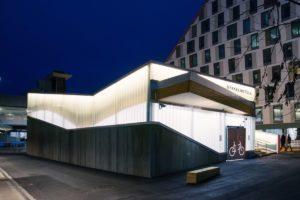 In Norvegia bici sicure e al coperto, in un deposito che è un gioiello