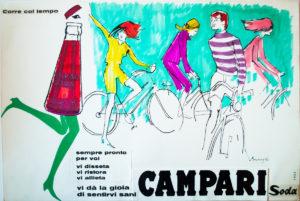 Campari festeggia il Giro centenario con una mostra tra bici, arte e costume