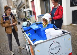 Bici antisprechi: a Nantes, Tricyclerie fa il giro dei ristoranti. E ne composta gli avanzi
