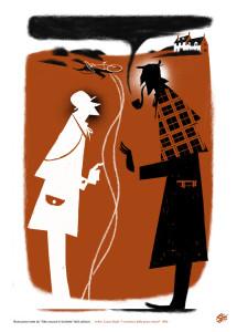 L'illustrazione per il racconto che vede protagonista Sherlock Holmes
