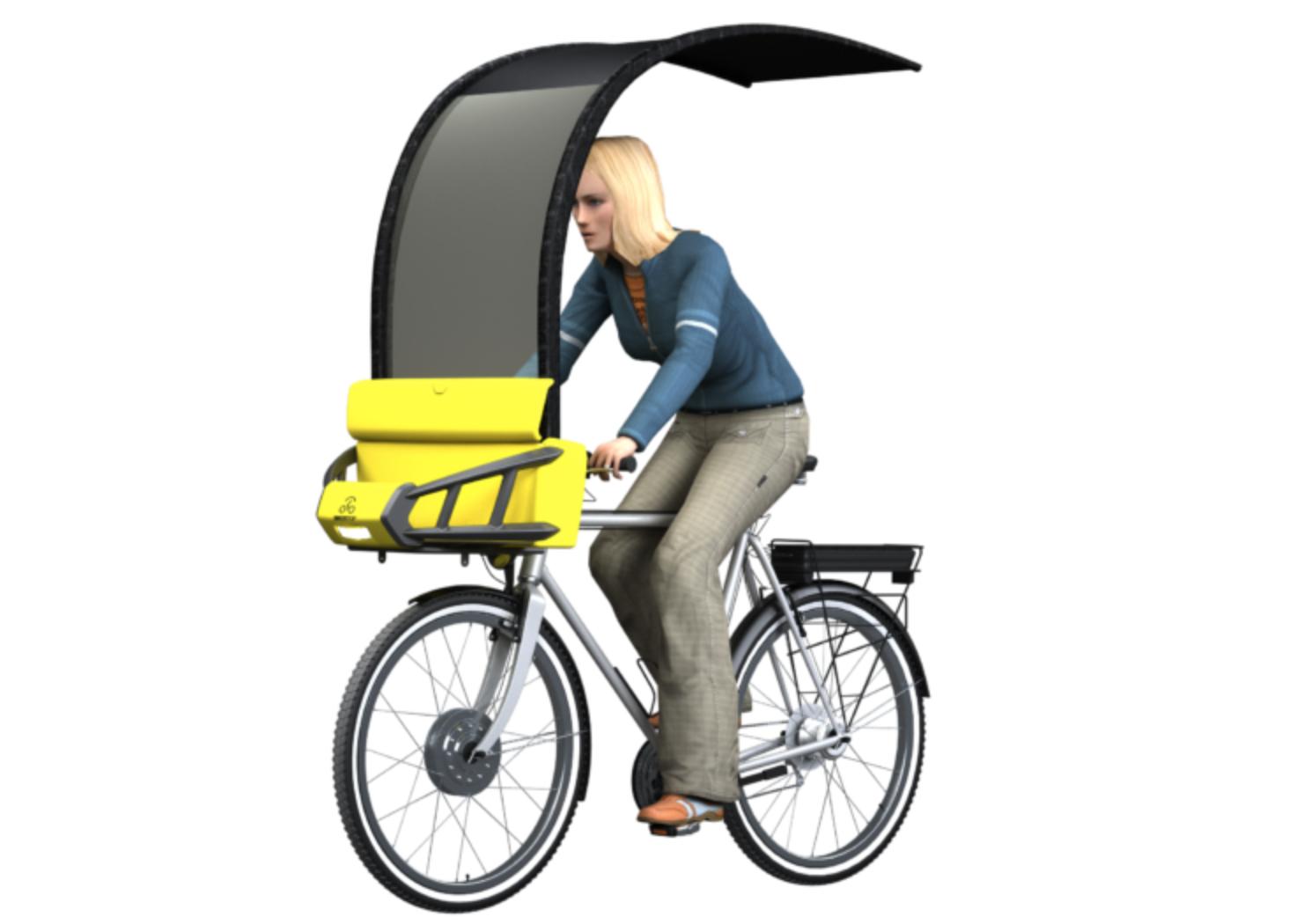 In Bici Con La Pioggia In Arrivo Biker Top Ombrello Per Ciclisti