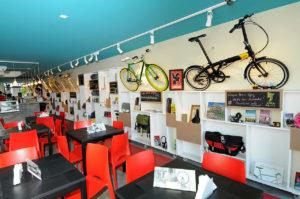 Il bike-café di Rio.