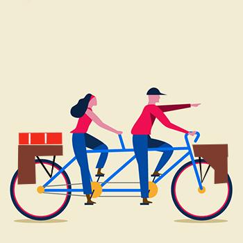 Tipi di ciclisti urbani - Il viaggiatore