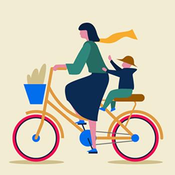 Tipi di ciclisti urbani - La mamma