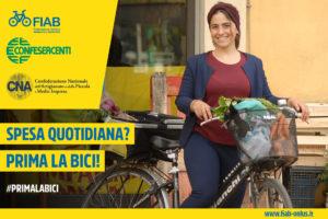 Fate la spesa in bicicletta! Campagna Fiab con Confesercenti e Cna