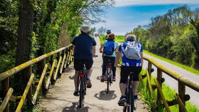 In bici sull'Isonzo