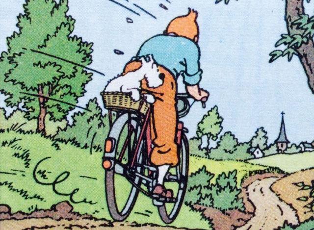 Tintin in sella