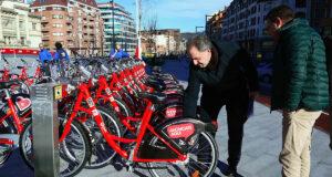 bike sharing a Bilbao